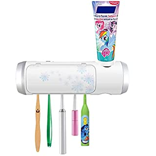 Aquatrend Wall Attach Toothbrush Holder Anti-Bacteria Rechargeable With Drying Feature Auto Toothpaste Item
