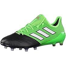 adidas Ace 17.1 Leather FG, Scarpe per Allenamento Calcio Uomo, Verde (Versol/Ftwbla/Negbas), 46 EU