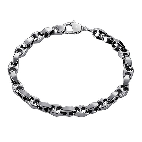 Aooaz Bracelet en Acier Inoxydable Hommes garçon Lettre H Bracelet Bracelet Argent Cadeau d'anniversaire de Banquet