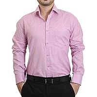 Player Men's Casual/Formal Wear, Dark Pink Shirt (SKU0095_38)