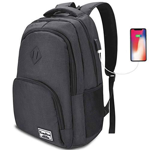Herren Rucksack,YAMTION Rucksack Laptop mit USB-Ladeanschluss und Laptopfach für Schule Studenten Arbeit