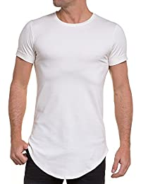 BLZ jeans - Tshirt blanc homme oversize arrondie