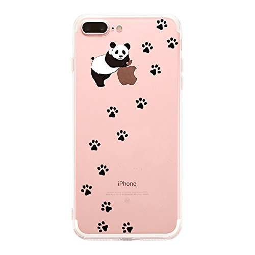 iPhone 7 Plus Custodia Simpatico panda Lamore elefante i Phone 7 Plus Case Transparente Silicone Cover Pacyer® TPU Gel Protettivo Skin Shell Per apple iPhone 7 Plus 5.5 4