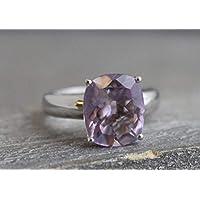 Amethyst Sterling Silber Ring US-Größe 8 / Diameter 18.2mm