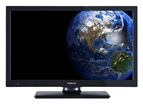 Finlux FLD2222 - 56 cm (22 Zoll) LED-Fernseher / LED TV / Flachbildschirm Fernseher mit integrierten DVD-Player | Full-HD | Intergriertem DVD Player | Energieklasse A - Schwarz