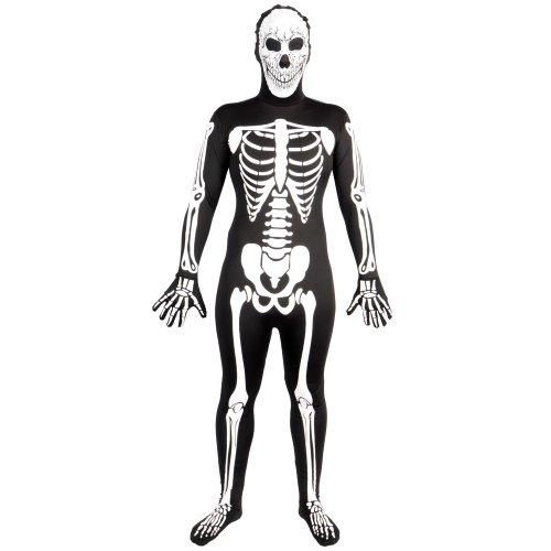 Skelett SKINZ Lycra Spandex Body Hautenger Ganzkörper Anzug -