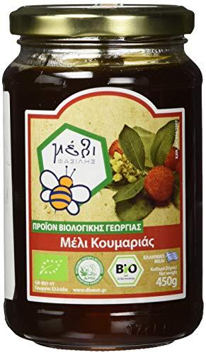 Organic Honey Fasilis Bio Erdbeerbaumhonig, 450 g (Griechischer Reiner Honig)