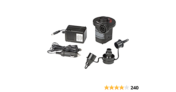 Intex Quick Fill Ac Dc Elektrische Pumpe Elektrische Luftpumpe Mit 3 Düsenaufsätze Sport Freizeit