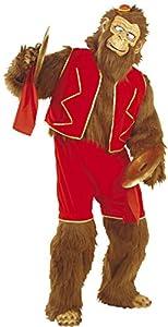 WIDMANN 4517M?Disfraz de mono/Gorilla, de peluche marrón, talla única