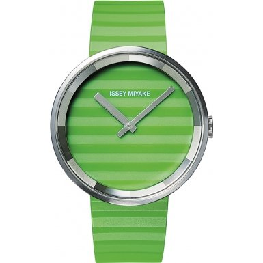 Issey Miyake AAA04 Ladies Please Green Silicone Strap Watch