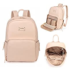 Amb Fashion Pu Leather Practical Multi-function Backpack Baby Nappy Changing Bag With Changing Pad Pink