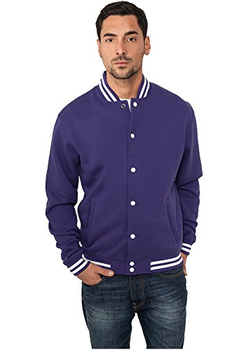 TB119 College Sweatjacket, Größe:L;Farbe:PURPLE Purple Classic Hoody Sweatshirt