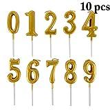 JUSTDOLIFE 10 UNIDS Velas De Pastel Número 0 A 9 Creativo Las Velas para La Decoración De La Torta...
