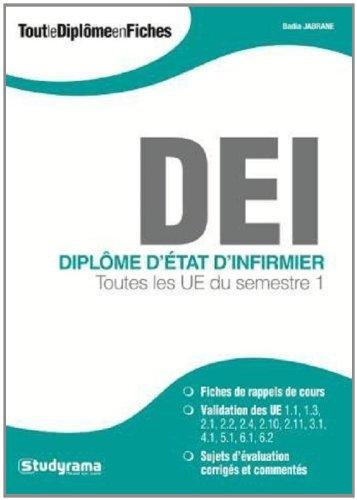 Diplôme d'Etat d'infirmier : Toutes les UE du semestre 1 par Badia Jabrane