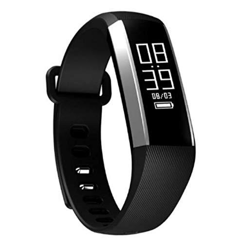 Comprajunta Intelligentes Armband, Persönlicher Gesundheits Monitor Blutdruck, Humor-Tracker, Sport-Modus GPS-Berechnung Oparación Distanz und Stepper, Schlaf Monitor,Black