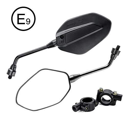 Retrovisores Moto 10mm Espejos Laterales con Abrazadera Homologado Universal