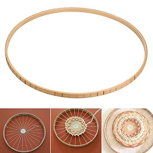 ne Holz Weben DIY Runde Webstuhl Strickmaschine für Wandbehang Dekor ()