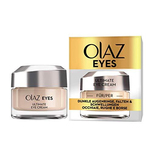 Olaz Eyes Ultimate Crema Contorno Occhi Tutto 1 Idrata Sgonfia e Illumina lo Sguardo Ottima contro le Occhiaie e le Rughe senza Profumo 15 ml