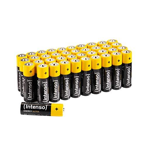 Intenso Energy Ultra AA Mignon LR6 Alkaline Batterien 40er Pack, gelb-schwarz -