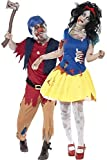 Couples Ladies Mens Zombie Snow White & Dwarf Halloween Fancy Dress Costumes Outfits (Ladies UK 12-14 & Mens Large)