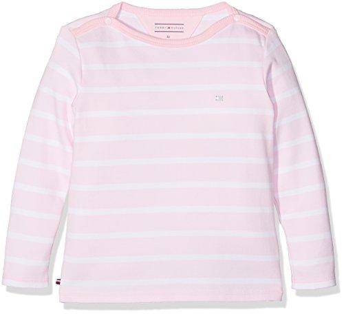 Tommy Hilfiger Baby-Mädchen Langarmshirt Light BN Knit L/S, Rosa (Ballerina 612), 80 (Herstellergröße:80) (Bn Mädchen)