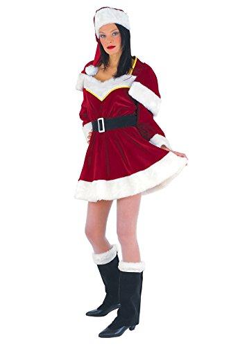 Unbekannt Miss Santa Kleid Kostüm Nikolaus Damen - Für Erwachsene Miss Santa Kostüm