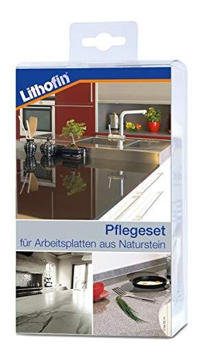 Lithofin Pflegeset Compact 800 ml - PROFESSIONELLE Reinigung und Pflege von Arbeitsplatten aus...