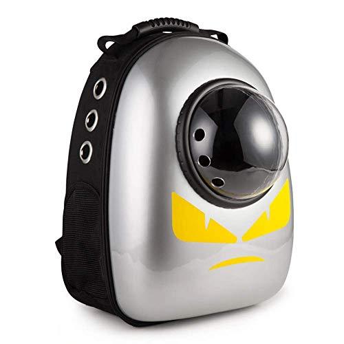 MUBAY Portable Travel Pet Carrier Rucksack, Space Capsule Bubble Design, wasserdichte Handtasche Rucksack for Katzen und kleine Hunde 3 Farben zur Auswahl (Color : Yellow)