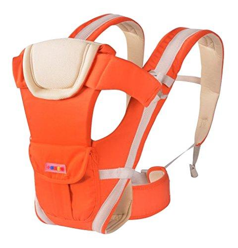 drasawee Vorder- und Rückseite Multifunktional 3D atmungsaktiv Netz Baumwolle Vier Jahreszeiten Infant Babyschalen Tasche Sling Orange