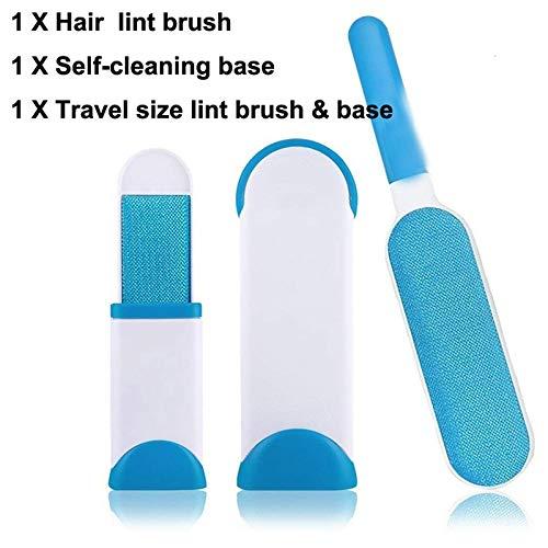 Bürsten Pet Hair Remover Brush Doppelseitig mit selbstreinigender Basis zum Entfernen von Tierhaaren von Couch, Teppich, Best Pet Hair Remover Brush for Pet