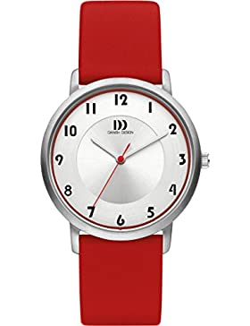 Danish Design Damen-Armbanduhr Danish Design Analog Leder Rot DZ120421