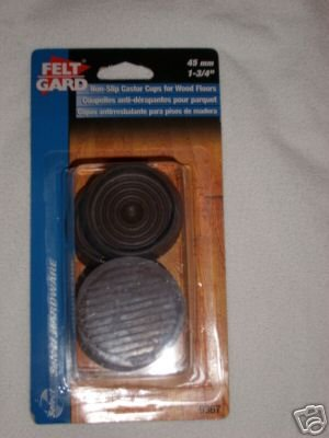 Non-Slip Rubber Castor Cups For Wooden Floors, Brown 44mm packof 4 - low-cost UK light shop.