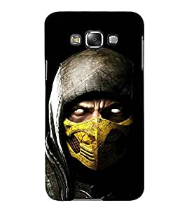 For Samsung Galaxy E7 (2015) :: Samsung Galaxy E7 Duos :: Samsung Galaxy E7 E7000 E7009 E700F E700F/Ds E700H E700H/Dd E700H/Ds E700M E700M/Ds Cartoon, Black, Cartoon and Animation, Fighter, Printed Designer Back Case Cover By CHAPLOOS