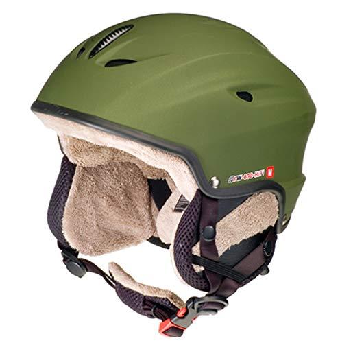 rueger-helmets RW-630 mit Lautsprechern Skihelm Snowboardhelm Ski Snowboard Skisport Bergsport, Größe:S (55-56), Farbe:Grün