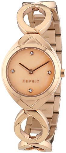 Esprit Audrey Women's Quartz Watch with Rose Gold Dial Analogue Display and Rose Gold Stainless Steel Bracelet ES108072003