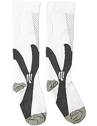 Pinzhi - Chaussettes Jambe de Compression de Sports Unisexe pour Course Cyclisme Vol Prévenir Enflure,Douleur,?dème