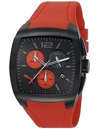 Puma Motorsport GT Chrono Unisex Quartz Watch with Black Dial Chronograph Display and Red Plastic or PU Strap PU102721001