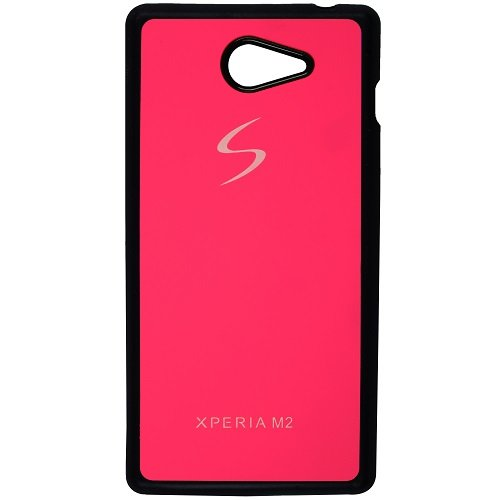 Casotec TPU Back Case Cover for Sony Xperia M2 - Pink  available at amazon for Rs.119