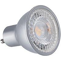 Spot LED GU10cob 7Watt–finitura grigia–Colore luce bianco caldo 2700° K. Finitura–Grigia