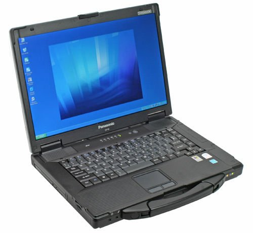 Rugged Panasonic Tough book Cf 52 core I5 Win 7 Pro 4 Gb 250gb DVD, excellent all weather all terrain use