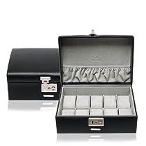 Windrose Vision Uhrenkassette für 10 Uhren 8 schwarz