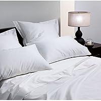 clicktostyle 400TC Lujo Blanco Oxford Par de fundas de almohada de algodón egipcio, calidad de hotel