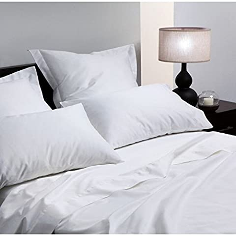 CLICKTOSTYLE 400TC LUXURY WHITE OXFORD PAIR OF PILLOW CASES EGYPTIAN COTTON HOTEL QUALITY