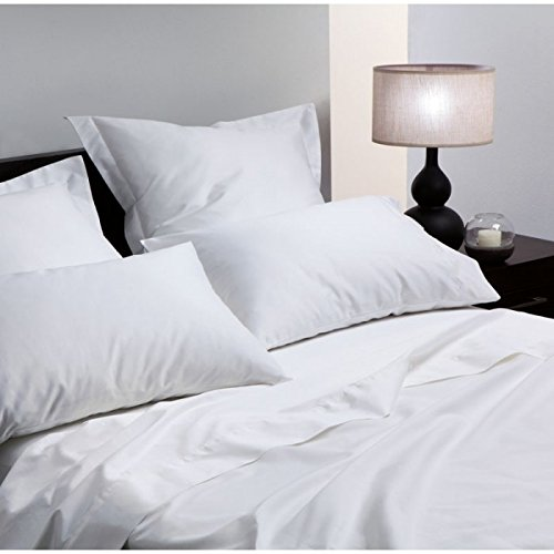 CLICKTOSTYLE 400TC LUXURY WHITE HOUSE WIFE PAIR OF PILLOW CASES EGYPTIAN COTTON HOTEL QUALITY