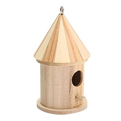 Dreammy New Wooden Bird House Birdhouse Hanging Nesting Box Hook Home Garden Decor 2