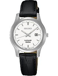 Seiko Damen-Armbanduhr Analog Quarz Leder SXDG65P1