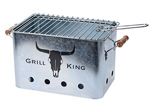 Spetebo Barbecue Mini Grill - Picknick Holzkohlegrill - Campinggrill Outdoor Tischgrill Partygrill