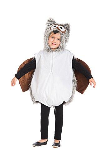 Eule Kostüm Kinder - Oh2006-128-140 Kinder Eulen Weste Kostüm Gr.128-140