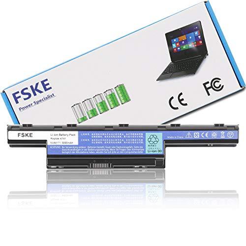 FSKE® AS10D31 AS10D51 AS10D81 AS10D75 AS10D73 AS10D61 AS10D41 AS10D3E AS10D71 Akku für ACER Aspire E1-531 E1-571 V3-771G V3-772G 5742G 7741G 5750 5733 5551 4741 Notebook Battery,10.8V 5000mAh 6-Zellen
