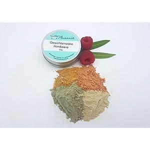 Gesichtsmaske Himbeere – bei trockener bis empfindlicher Haut, vegan, ohne Palmöl und Konservierungsstoffe, Gesichtsmaske aus natürlichen Heilerden von kleine Auszeit Manufaktur